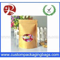 Quality Waterproof Recyclable Stand Up Pouches With Zipper And Shaped Window for sale