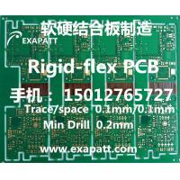 China Rigid-flex PCB, Flexible PCB, laser drill via, blindvia, buried via, samll BGA 0.3MM, MICROVIA 0.1mm, 0.15mm, 0.2mm on sale