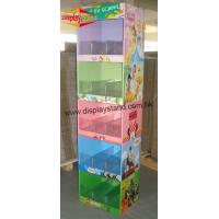 Quality Corrugated POP Cardboard Display Stands with Offset Printing for Retail / retailers for sale
