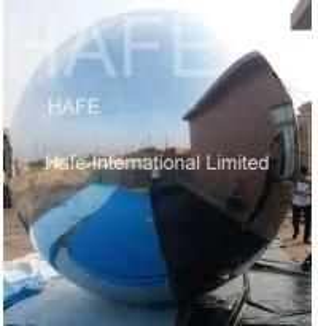 China Shiny Inflatable Silvery Mirror Ball / Charming Mirror Balloons For Company Anniversary Celebration wholesale