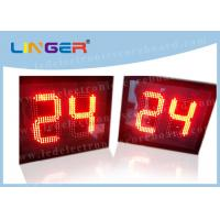 China 12 Inch 300mm 24 Second Shot Clock , Sports Countdown Timer Digital 88 X 2 wholesale