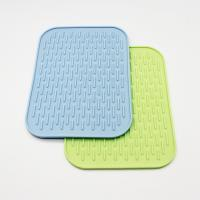 Buy cheap Silicone Table Tea Pot Cup Mat, Square Shape Silicone Hot Pot Pad from wholesalers