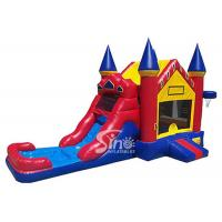 China Outdoor ancient castle inflatable water bounce house with pool for kids summer partiesOutdoor ancient castle inflatable wholesale
