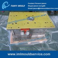 hot runner system two cavities thin wall food bucket mould, 500ml thinwall container mould