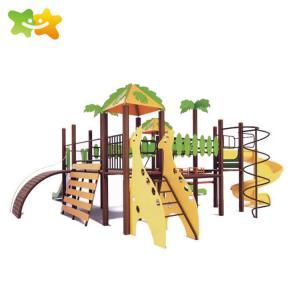 China Outside Backyard Children Plastic Playground Slide With 114mm Galvanized Pipe wholesale
