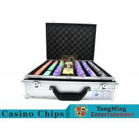 Stripe Suited Casino Poker Chip Set , 12g Poker Chip Sets With Denominations for sale