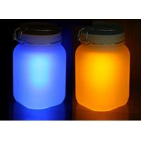 Quality Solar powered Blue LED glass bottle light for garden table lights for sale