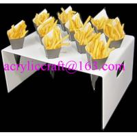 China Countertop acrylic french fries cone display stand wholesale