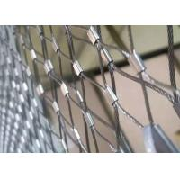 China 316 Flexible Ferrule Stainless Steel Wire Rope Mesh For Zoo Fence wholesale