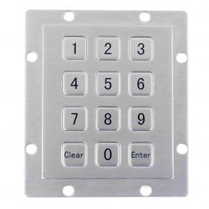 Short key stroke vending machine metal material keypad with manufacturer factory price