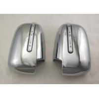 China Pair Silver Side Door Mirror Cover With LED Signal Light For Mitsubishi Triton L200 2005 - 14 wholesale