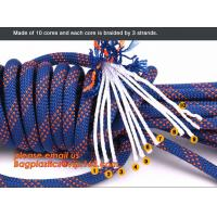 China personal protective escape rope polyester rope, high strength fire escape safety climbing rope wholesale