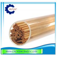 China Dia 0.7*400mm Double Holes EDM Copper Eletrode Tube / Pipe For EDM Drill Machine wholesale