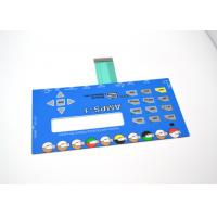 China Push Button Membrane Switch Panel With LCD Clear Window No Embossing wholesale
