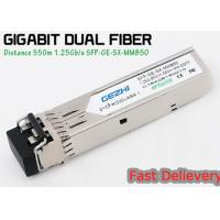 China 1.25G 850nm Fp 550m Lc Mmf Small Form Factor Pluggable Transceiver Fcc Compliant Sfp wholesale