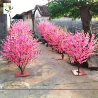 China UVG small artificial peach blossom wooden tree wedding reception decorations selling products CHR166 wholesale