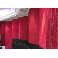 China Spacing Divider Colorful Double Hook Metal Mesh Drapery For Shopping Malls wholesale