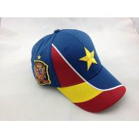 Quality Dry Fit 3D Embroidered Baseball Caps Spain Team Football World Cup Brazil for sale