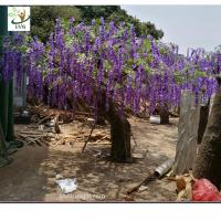 China UVG wedding planner artificial flower arrangements purple wisteria blossoms fake tree for beach club decoration wholesale
