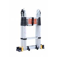 China Outdoor En131 4.4m Double Sided Aluminium Ladder wholesale