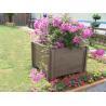 Quality Square wood plastic composite WPC flower pot cheap flower pots balcony flower pots for sale