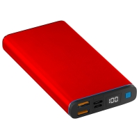 China Digital Display 20000mAh Portable Power Supply with red alloy case wholesale