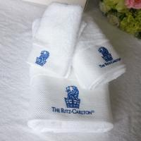 China 100% cotton custom embroidered logo white terry hotel bath towel set wholesale