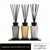China Luxury Room Aromatherapy Reed Diffuser With Black Top Cover , Screen Printing wholesale