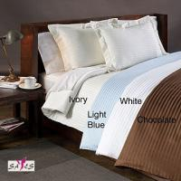 China Light Blue Ivory Chocolate 100 % Cotton Country / Hotel Collection Double Bed Linen wholesale