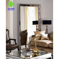 China Modern Large Frameless Mirror , Silver Full Length Mirror With Clear Surface wholesale