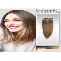 China 100% Raw 5A / 6A Clip In human Hair Extensions , Pro Bonded Indian Straight Hair wholesale