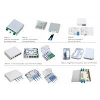 China Space Saving Fiber Optic Distribution Box FTTH 2 Core Waterproof ABS / PC Material on sale
