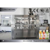 Quality Automatic 3 IN 1 Hot Juice Filling Machine For PET Bottles, PLC Control for sale