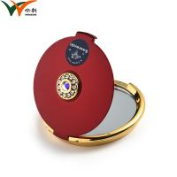 Buy cheap Round Compact Cosmetic Mirror / Multi Color Metal Small Purse Mirror from wholesalers