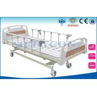 Quality Foldable Patients Medical Hospital Beds ABS Cover Mattress Base for sale