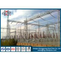 Buy cheap Power Transformer Substation Steel Structures Conical , Round from wholesalers