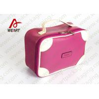 China Matte Lamination Leather Pink Customized Paper Box With Handle OEM /ODM Avaliable wholesale