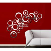 China DIY crystal mirror stickers style 3d wall stickers wall decorations stereo circle wall wholesale