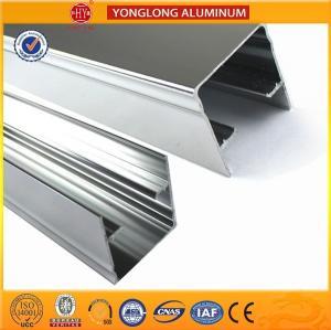 China Machinery Polished Aluminium Profile Silver White High Surface Brightness on sale
