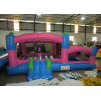 China Kids Outdoor Custom Made Inflatables Bounce House Combo 0.55mm Pvc Tarpaulin wholesale