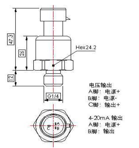 4-20ma pressure sensor,0.5-4.5V pressure transmitter ,0-5v pressure transmitter