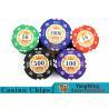 China Sticker Pure Casino Poker Chip Set With UV Logo , Ceramic Poker Chip Sets  wholesale