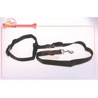 China Hand Free Adjustable And Durable Nylon Dog Lead Tie To Waist With Plastic Buckle wholesale