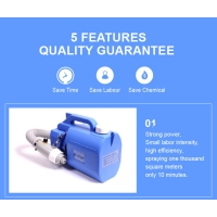 China Hot sale 5L garden disinfectant sprayer cold fogger machine portable electric ULV fogger for USA,DUBAI,SOUTH AMERICAN wholesale