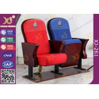 China Fire Retardant Vintage Wooden Theatre Seating Chairs For Church Project wholesale