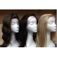 China Indian Original 100% Lace Front Human Hair Wigs With Bleached Knots wholesale
