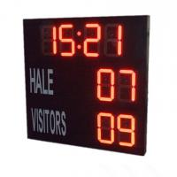 China Red Electronic Large Digital Soccer Scoreboard With Waterproof Iron Cabinet wholesale