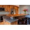 China Wild Sea Foam Stone Granite Countertops , Light Green Darker Grays Vein Granite Worktops wholesale
