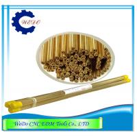 China Double Hole EDM Eletrode Pipe / Brass Tube For EDM Drilling Machine 0.8x400mmL wholesale