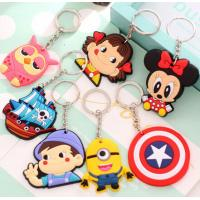 China Custom Creative Soft PVC Key Ring Cartoon Buckle Freestyle Injection With Color wholesale